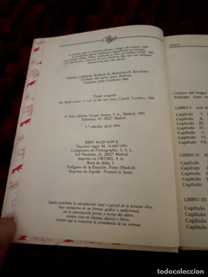 Libros antiguos: STEVENSON: LA FLECHA NEGRA, (ANAYA, TUS LIBROS, 104, 1ª, 1991). - Foto 6 - 225391595
