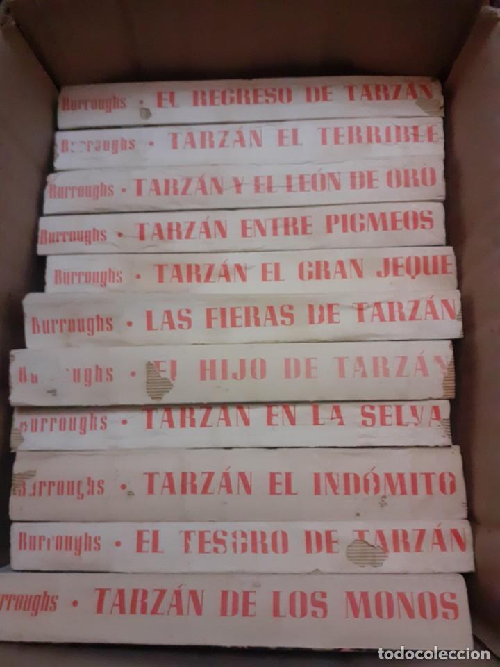 Libros antiguos: lote de 11 novelas de la coleccion completa de las Aventuras de tarzan de los años 60.Envio gratis - Foto 6 - 226215725