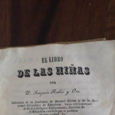 Libros antiguos: EL LIBRO DE LAS NIÑAS. Lote 230219005