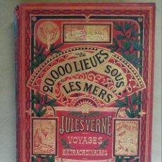 Libros antiguos: 20.000 LEGUAS DE VIAJE SUBMARINO EDICION FRANCESA JULIO VERNE GRABADOS HILDIBRAND. Lote 230420325