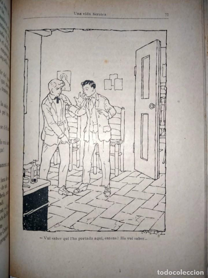 Libros antiguos: UNA VIDA HEROICA -VOLUM 38 -BIBLIOTECA PATUFET - J.M. FOLCH I TORRES - Foto 3 - 231489570