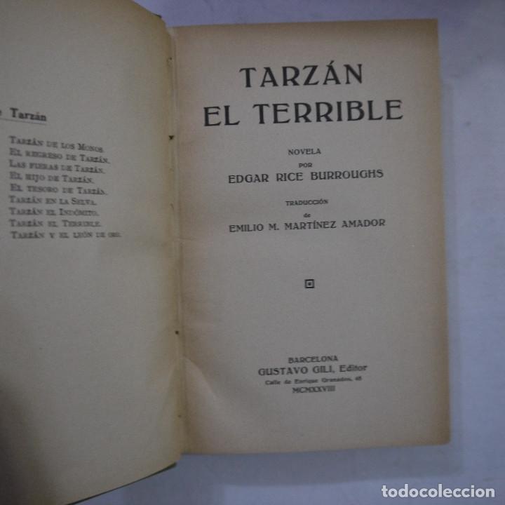 Libros antiguos: LOTE DE 10 NOVELAS DE TARZAN - EDGAR RICE BURROUGHS - GUSTAVO GILI EDITOR - 1927 y 1928 - Foto 2 - 231655910