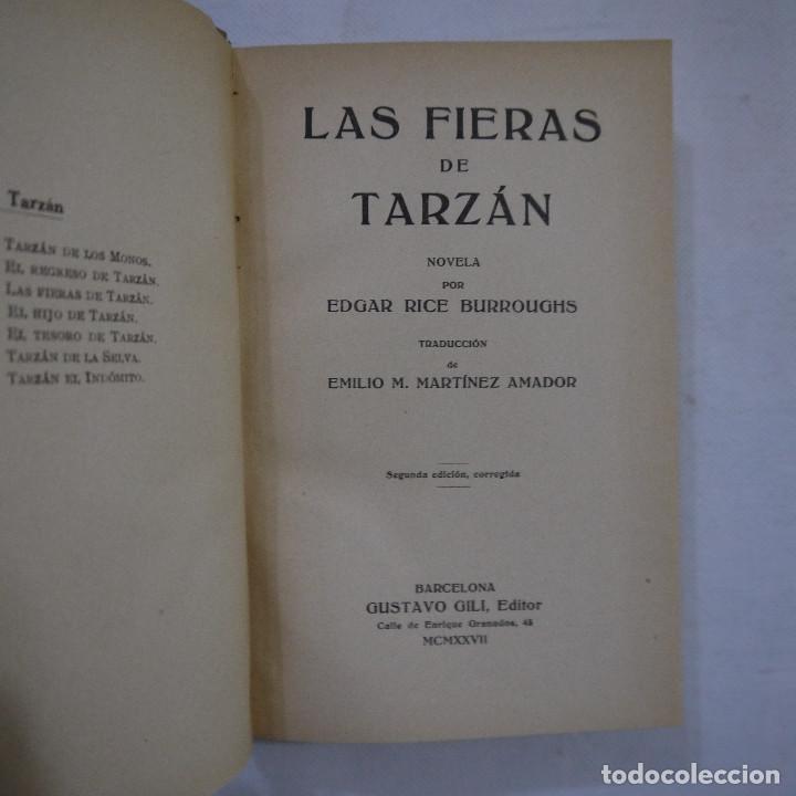Libros antiguos: LOTE DE 10 NOVELAS DE TARZAN - EDGAR RICE BURROUGHS - GUSTAVO GILI EDITOR - 1927 y 1928 - Foto 5 - 231655910