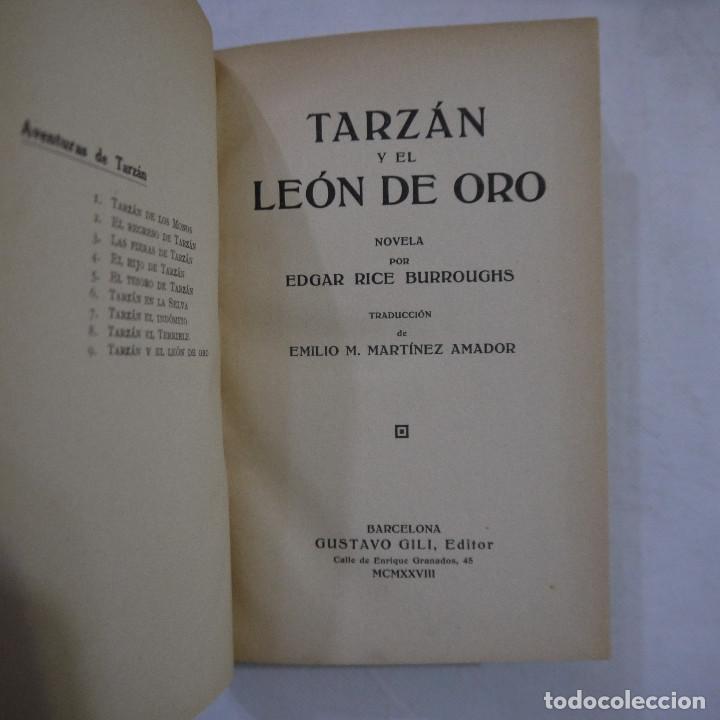 Libros antiguos: LOTE DE 10 NOVELAS DE TARZAN - EDGAR RICE BURROUGHS - GUSTAVO GILI EDITOR - 1927 y 1928 - Foto 8 - 231655910