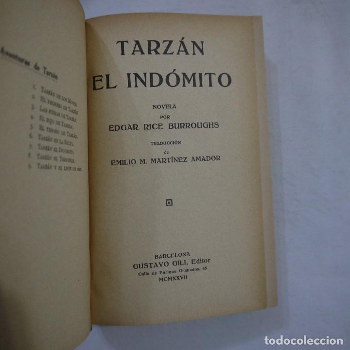 Libros antiguos: LOTE DE 10 NOVELAS DE TARZAN - EDGAR RICE BURROUGHS - GUSTAVO GILI EDITOR - 1927 y 1928 - Foto 11 - 231655910