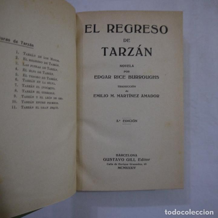 Libros antiguos: LOTE DE 10 NOVELAS DE TARZAN - EDGAR RICE BURROUGHS - GUSTAVO GILI EDITOR - 1927 y 1928 - Foto 14 - 231655910