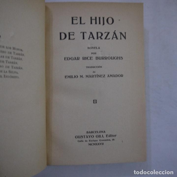 Libros antiguos: LOTE DE 10 NOVELAS DE TARZAN - EDGAR RICE BURROUGHS - GUSTAVO GILI EDITOR - 1927 y 1928 - Foto 17 - 231655910