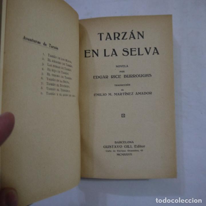 Libros antiguos: LOTE DE 10 NOVELAS DE TARZAN - EDGAR RICE BURROUGHS - GUSTAVO GILI EDITOR - 1927 y 1928 - Foto 20 - 231655910