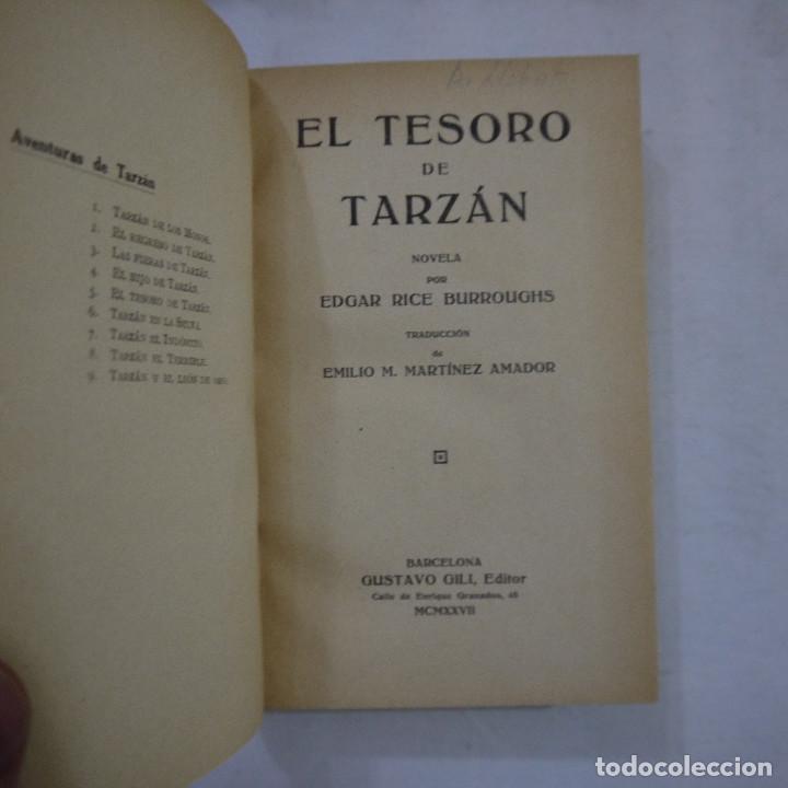 Libros antiguos: LOTE DE 10 NOVELAS DE TARZAN - EDGAR RICE BURROUGHS - GUSTAVO GILI EDITOR - 1927 y 1928 - Foto 23 - 231655910