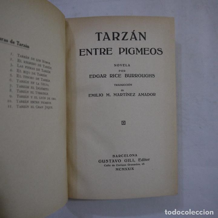 Libros antiguos: LOTE DE 10 NOVELAS DE TARZAN - EDGAR RICE BURROUGHS - GUSTAVO GILI EDITOR - 1927 y 1928 - Foto 26 - 231655910