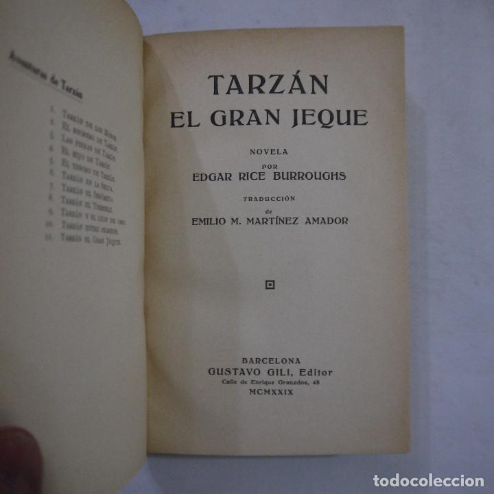 Libros antiguos: LOTE DE 10 NOVELAS DE TARZAN - EDGAR RICE BURROUGHS - GUSTAVO GILI EDITOR - 1927 y 1928 - Foto 29 - 231655910