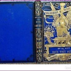 Libros antiguos: AÑO 1888: PRECIOSO LIBRO DEL SIGLO XIX. 2 NIÑOS PEQUEÑOS. LITERATURA. LIBRO ILUSTRADO.. Lote 233976365