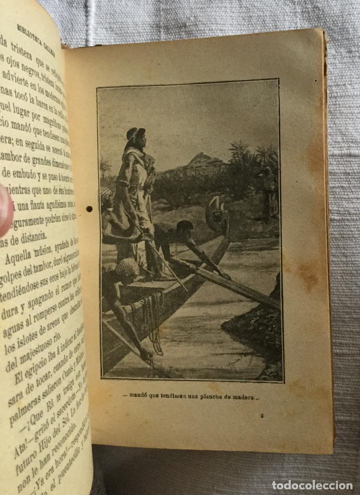 Libros antiguos: LAS HIJAS DE LOS FARAONES - S. CALLEJA - EMILIO SALGARI - 252p. 17x12 - Foto 4 - 234739700