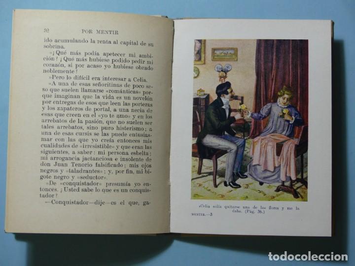 Libros antiguos: BIBLIOTECA SELECTA - POR MENTIR - EDITORIAL SOPENA 1935 - ILUSTRACIONES B/N Y COLOR - EXCELENTE VER - Foto 5 - 236061720