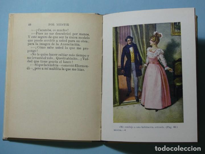 Libros antiguos: BIBLIOTECA SELECTA - POR MENTIR - EDITORIAL SOPENA 1935 - ILUSTRACIONES B/N Y COLOR - EXCELENTE VER - Foto 6 - 236061720