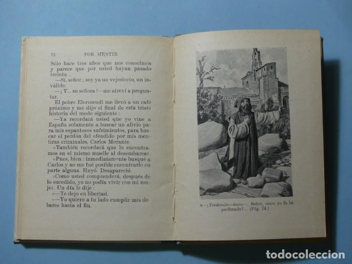 Libros antiguos: BIBLIOTECA SELECTA - POR MENTIR - EDITORIAL SOPENA 1935 - ILUSTRACIONES B/N Y COLOR - EXCELENTE VER - Foto 9 - 236061720