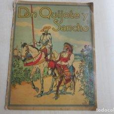 Libros antiguos: DON QUIJOTE Y SANCHO MANUFACTURAS SIRVEN BARCELONA POSIBLE AÑOS 30-40. Lote 236083880