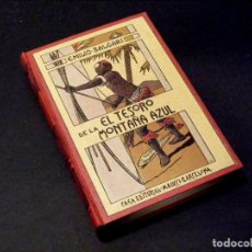 Libros antiguos: EL TESORO DE LA MONTAÑA AZUL - EMILIO SALGARI - BUEN ESTADO - BONITA ENCUADERNACIÓN.. Lote 238777090