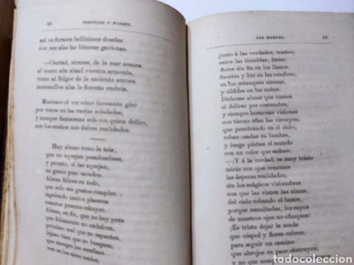 Libros antiguos: Poesías y Fabulas.Ternezas y flores .Áyres de Alma .Fabulas .Ramón de Campoamor 1874 - Foto 4 - 244446945