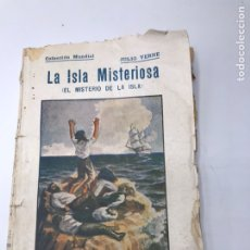 Libros antiguos: LIBRO LA ISLA MISTERIOSA II JULIO VERNE COLECCIÓN MUNDIAL. EDITADO POR BAUZÁ EN EL AÑO 1920. Lote 244567030