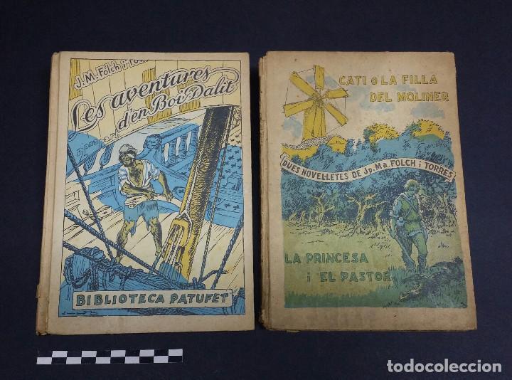 2 LIBROS DE LA BIBLIOTECA PATUFET DE J.M FOLCH I TORRES. (Libros Antiguos, Raros y Curiosos - Literatura Infantil y Juvenil - Novela)
