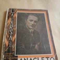 Libros antiguos: ANACLETO SE DIVORCIA LA FARSA AÑO 1933 MUÑOZ SECA Y PEREZ FERNANDEZ. Lote 251211350