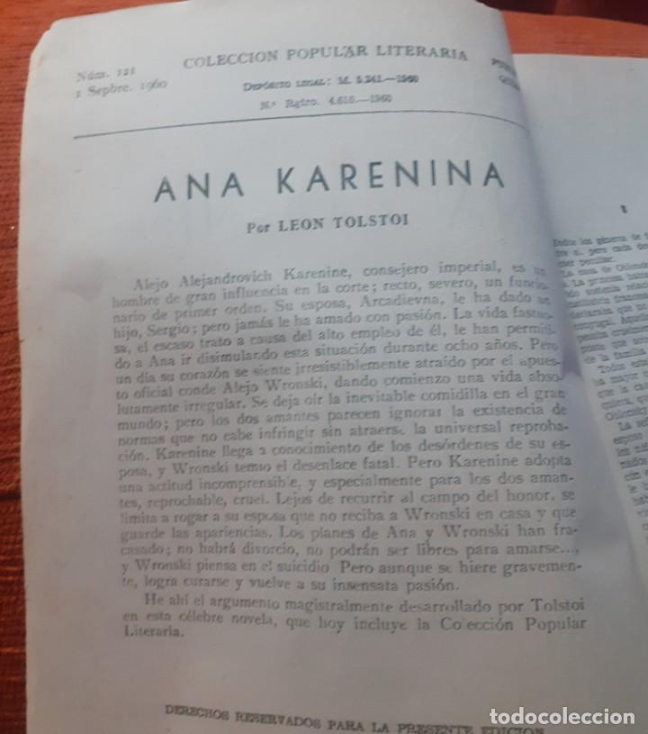 Libros antiguos: 2 Novelas Ana Karenina parte 1 y 2 de los años 60 - Foto 2 - 251642375