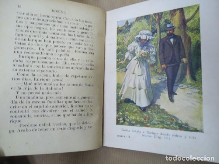 Libros antiguos: ROSINA 1936 BIBLIOTECA SELECTA DE SOPENA CON 74 PÁGINAS ILUSTRADO ENCUADERNACIÓN ORIGINAL EN CARTONÉ - Foto 4 - 254349335