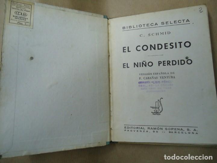 Libros antiguos: EL CONDESITO 1941 CRISTOBAL SCHID BIBLIOTECA SELECTA DE SOPENA CON 78 PÁGINAS ILUSTRADO ENCUADERNACI - Foto 3 - 254353135