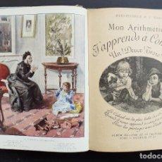 Libros antiguos: 1900 - RARO LIBRO PARA NIÑOS PARA APRENDER A CONTAR - ARITMÉTICA INFANTIL - GRABADOS Y LÁMINAS. Lote 255345210