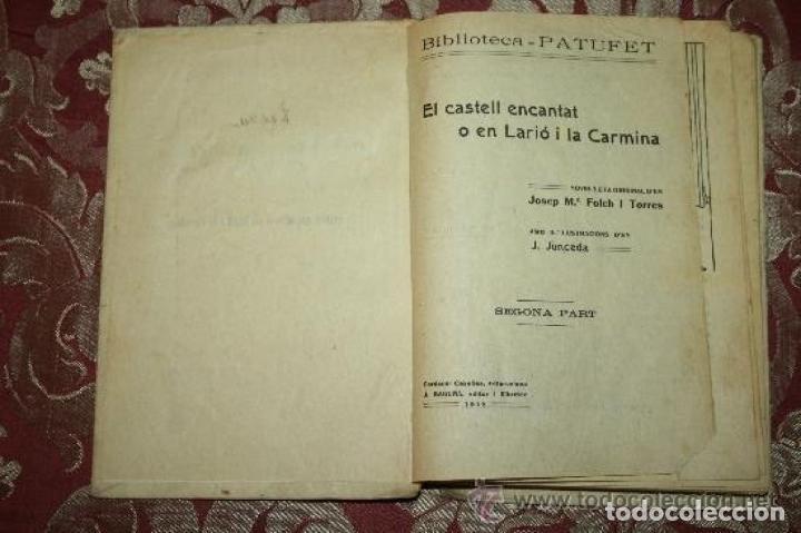 Libros antiguos: LOTE DE 8 NOVELAS DE LA BIBLIOTECA PATUFET. FOLCH Y TORRES. EDIT. BAGUÑA. 1919. - Foto 8 - 255933505