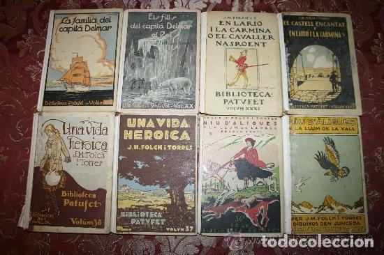 LOTE DE 8 NOVELAS DE LA BIBLIOTECA PATUFET. FOLCH Y TORRES. EDIT. BAGUÑA. 1919. (Libros Antiguos, Raros y Curiosos - Literatura Infantil y Juvenil - Novela)
