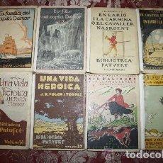 Libros antiguos: LOTE DE 8 NOVELAS DE LA BIBLIOTECA PATUFET. FOLCH Y TORRES. EDIT. BAGUÑA. 1919.. Lote 255933505