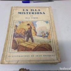 Libros antiguos: LA ILLA MISTERIOSA OBRA COMPLETA AÑOS 30 POR JULI VERNE. Lote 39668642