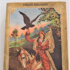 Libros antiguos: LAS AGUILAS DE LA ESTEPA - EMILIO SALGARI - CASA EDITORIAL MAUCCI - CON 18 LÁMINAS DE A. TANGHETTI. Lote 261551625