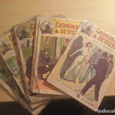 Libros antiguos: NOVELAS CRIMINALES Y DETECTIVES, COLECCION DE HACE 100 AÑOS, 15 EJEMPLARES. Lote 262413475