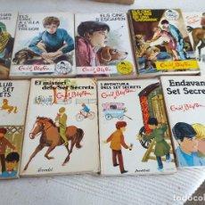Livros antigos: LOTE 9 LIBROS ENID BLYTON- ELS CINC I ELS SET SECRETS- EDITORIAL JUVENTUD -TAPA BLANDA- AÑOS 80. Lote 263740630