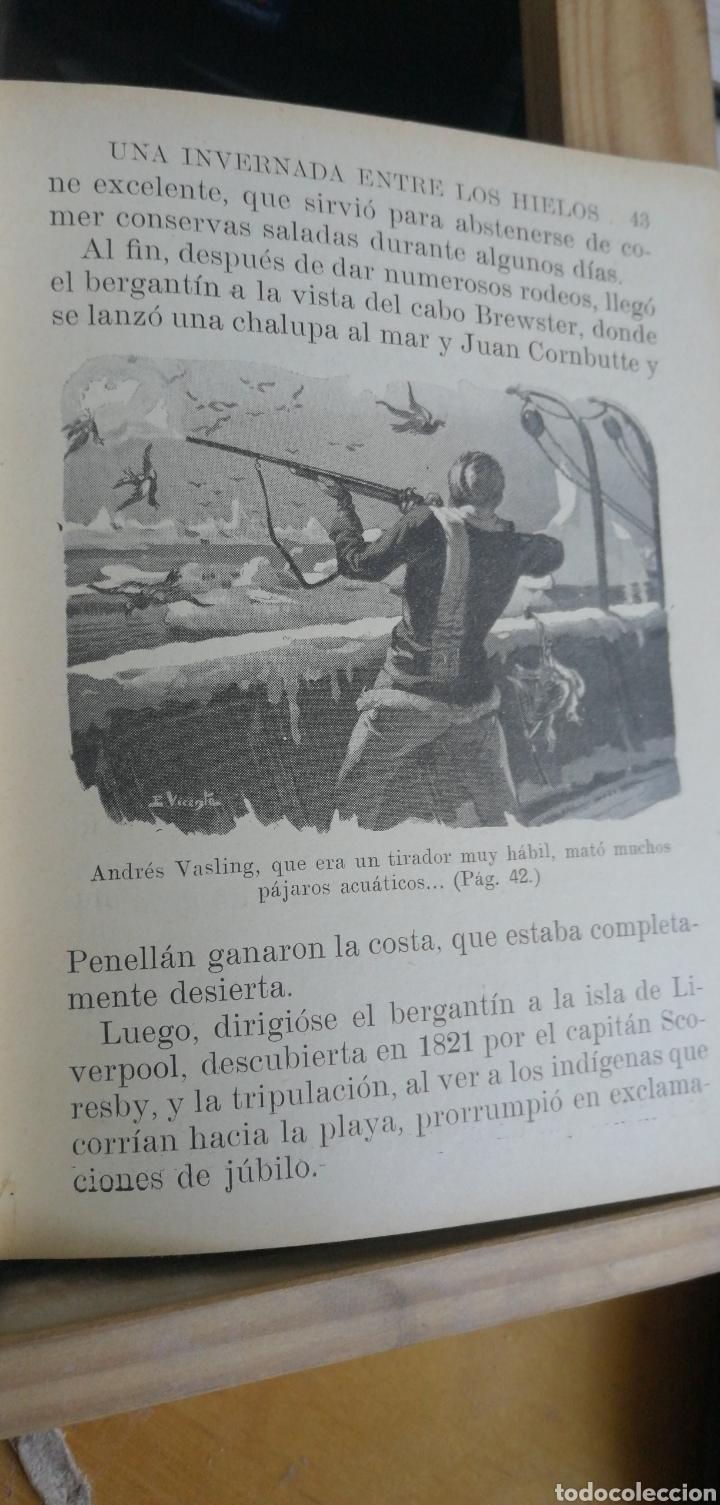 Libros antiguos: Julio Verne. Una invernada entre los hielos. Biblioteca Selecta Sopena nº 69. Año 1932 in 8º m 16,5x - Foto 4 - 267902024