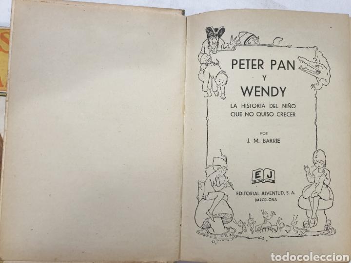 Libros antiguos: PETER PAN Y WENDY. EDITORIAL JUVENTUD QUINTA EDICIÓN 1934. J.M.BARRIE - Foto 4 - 267904054