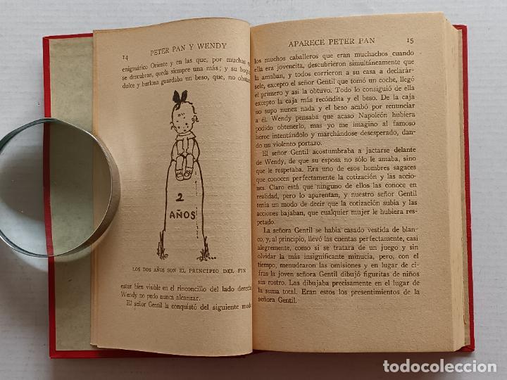 Libros antiguos: PETER PAN Y WENDY J.M.BARRIE EDITORIAL JUVENTUD 1925 1° EDICION - Foto 11 - 268600909