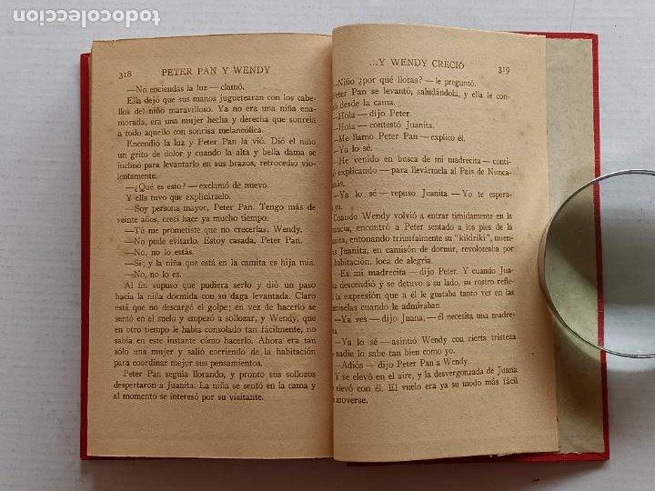 Libros antiguos: PETER PAN Y WENDY J.M.BARRIE EDITORIAL JUVENTUD 1925 1° EDICION - Foto 17 - 268600909