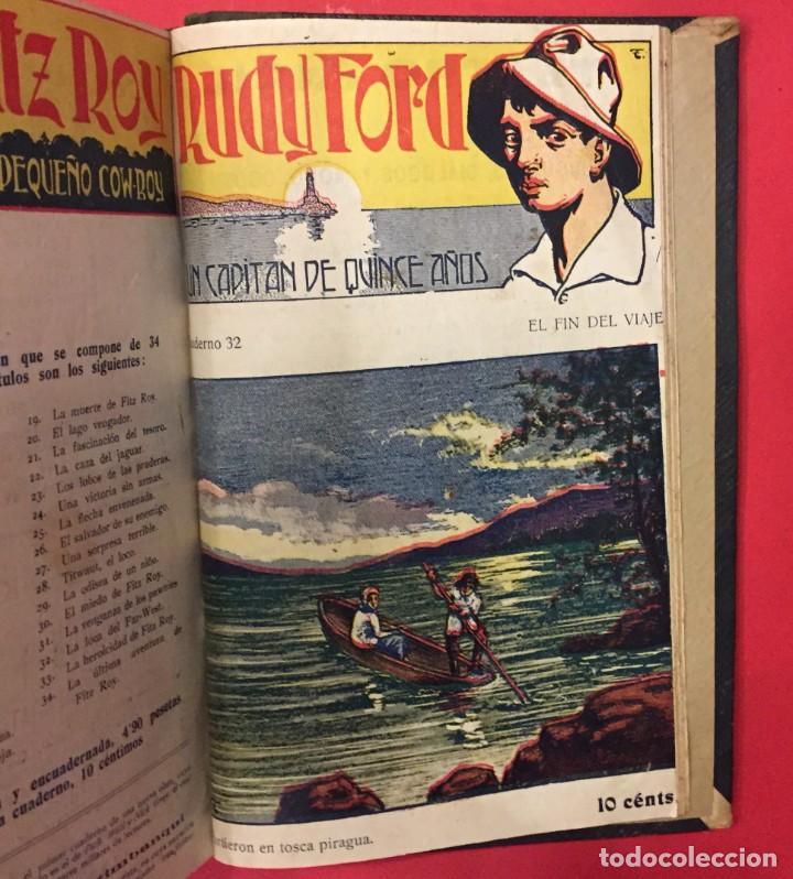 Libros antiguos: RUDY FORD UN CAPITAN DE 15 AÑOS, COLECCION COMPLLETA DE 32 NUMEROS - Foto 3 - 268734409