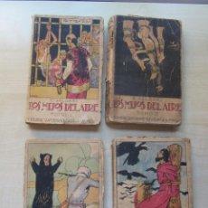 Libros antiguos: LOS HIJOS DEL AIRE (OBRA COMPLETA 4 TOMOS) EMILIO SALGARI EDITORIAL CALLEJA HACIA1920. Lote 269848083