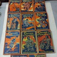 Livros antigos: LAS AVENTURAS DE TARZAN: 11 TOMOS, COLECCIÓN COMPLETA. 1926-1929. GUSTAVO GILI TAPA BLANDA ILUSTRADA. Lote 286241468
