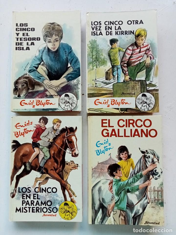 LOTE DE 4 TÍTULOS DE ENID BLYTON (LOS CINCO Y LOS SIETE SECRETOS), EDITORIAL JUVENTUD AÑOS 70 (Libros Antiguos, Raros y Curiosos - Literatura Infantil y Juvenil - Novela)