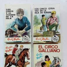Libros antiguos: LOTE DE 4 TÍTULOS DE ENID BLYTON (LOS CINCO Y LOS SIETE SECRETOS), EDITORIAL JUVENTUD AÑOS 70. Lote 287238463