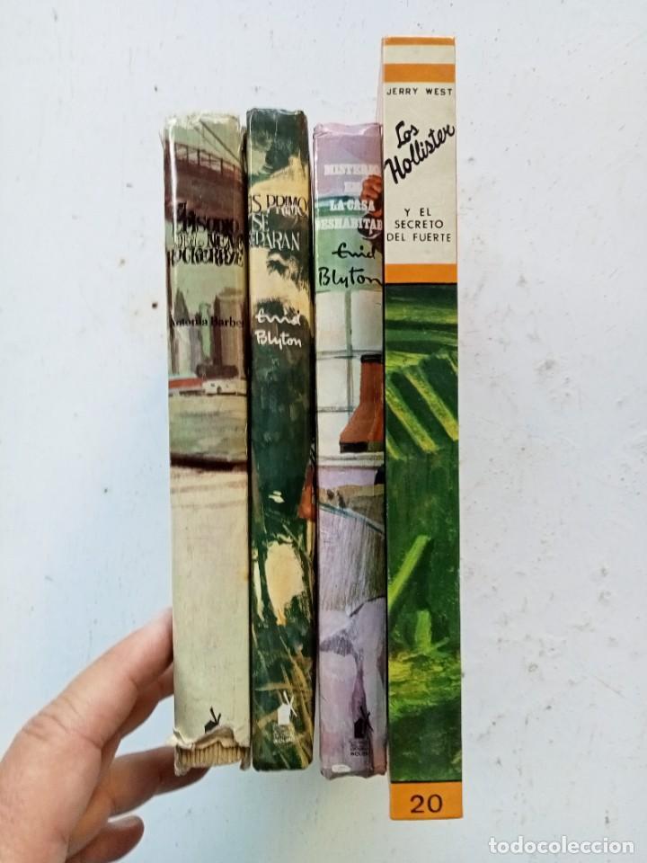 Libros antiguos: 4 novelas juveniles de aventuras e intriga. Los Hollister, Enid Blyton. Toray y Molino. Años 70 - Foto 3 - 287376378