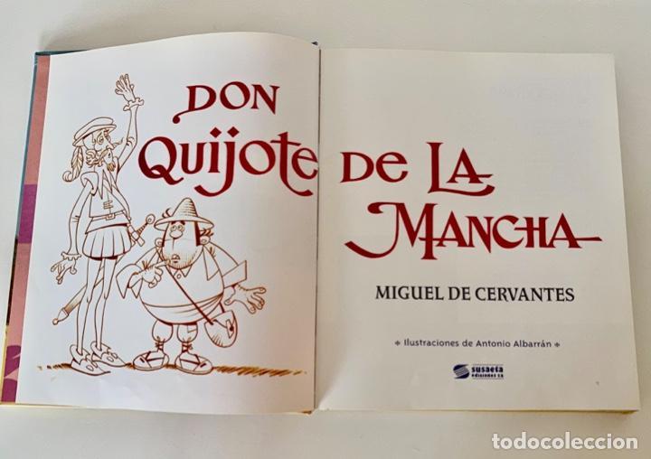 Libros antiguos: DON QUIJOTE DE LA MANCHA-MIGUEL DE CERVANTES-ILLUSTRACIONES ANTONIO ALBARRAN-SUSAETA- TAPA DURA - Foto 6 - 287493168