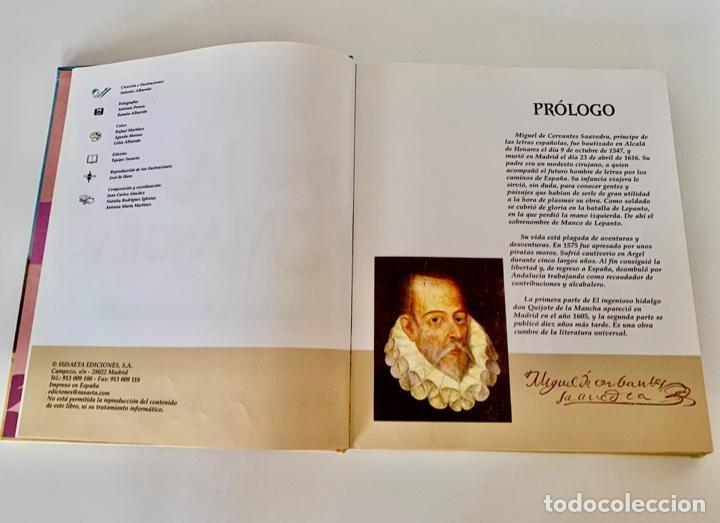 Libros antiguos: DON QUIJOTE DE LA MANCHA-MIGUEL DE CERVANTES-ILLUSTRACIONES ANTONIO ALBARRAN-SUSAETA- TAPA DURA - Foto 7 - 287493168