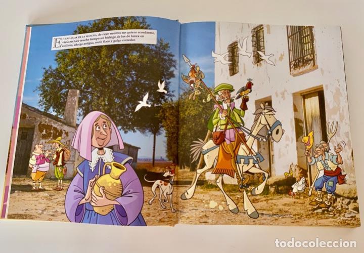 Libros antiguos: DON QUIJOTE DE LA MANCHA-MIGUEL DE CERVANTES-ILLUSTRACIONES ANTONIO ALBARRAN-SUSAETA- TAPA DURA - Foto 9 - 287493168